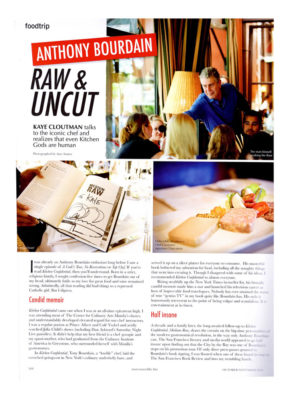 Commercial Photography, Publications, Anthony Bourdain, Raw & Uncut, Auey Santos Photography