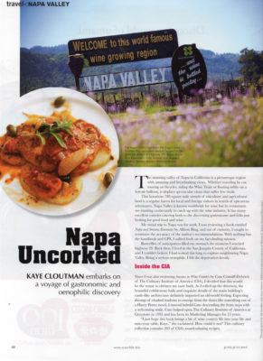 Commercial Photography, Publications, Napa Uncorked, Travel Napa Valley, Kaye Cloutman, Auey Santos Photography