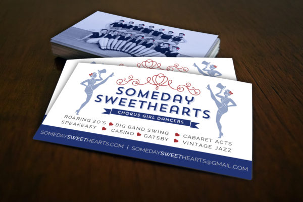 Commercial, Publications, Someday Sweethearts Business Cards, Hourglass Studios Graphic Design, Auey Santos Photography